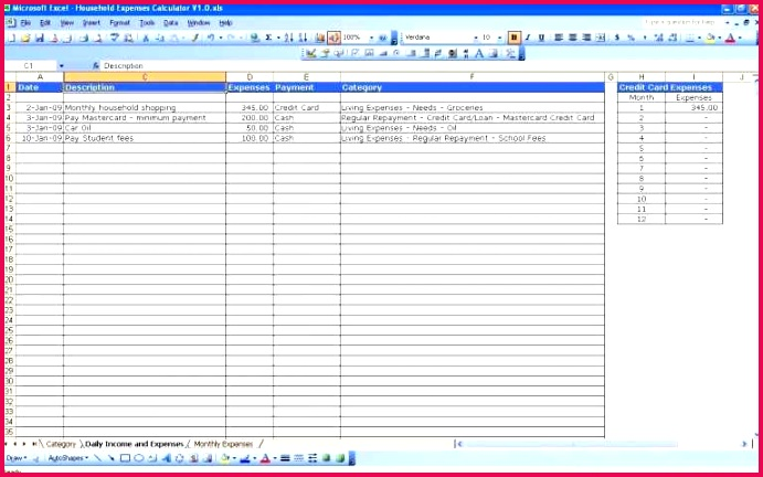Expense Worksheet Excel New Design Daily Expense Tracker Spreadsheet Excel Spreadsheet for Tracking