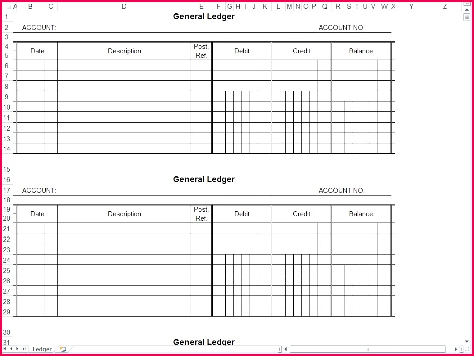 General Journal Template Excel Awesome Business Ledger Template Excel Free Business Cards Ideas