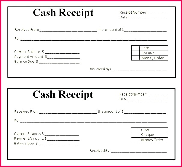 cash payroll receipt form book template word doc blank car document money maker payroll payment receipt template