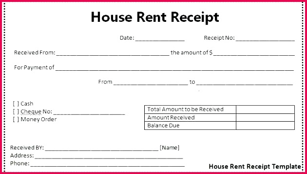 receipt template excel ms payment microsoft invoice 2007 house rent invoices templates rental acknow