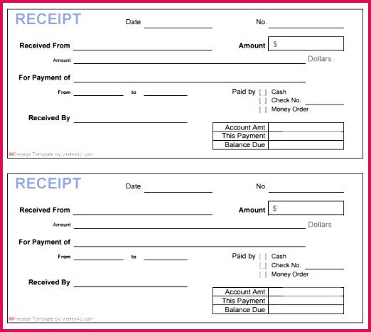 printable blank receipt