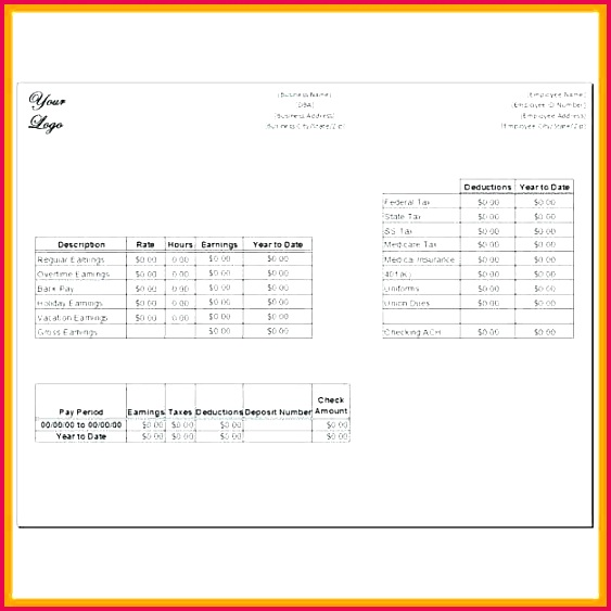 Employee Payroll Ledger Template Awesome Blank Payroll Check Template Word Create Checks Free Templates