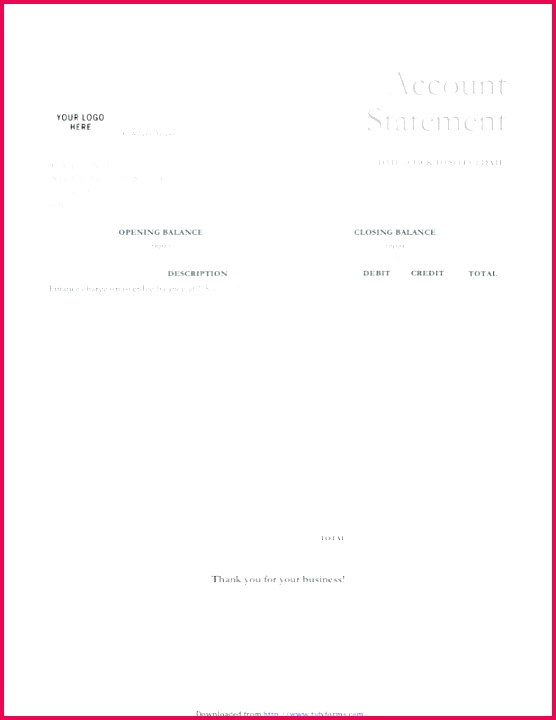 30 New Bank Statement Template Download Free Pics