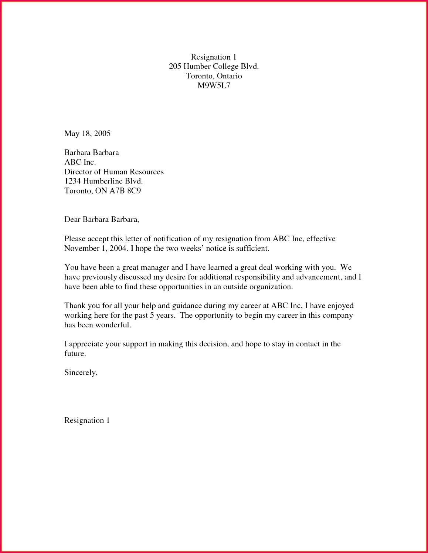 2 Week Notice Letter Template Best Leaving Job Notice Letter Template Best Letter Debit Note Od
