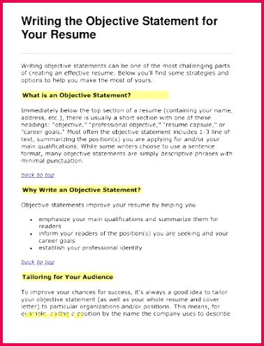 Resume Mission Statement Examples Elegant Customer Service Resume Objective Examples Resume Objective