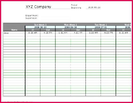 Employee Payroll Ledger Template Beautiful Biweekly Multiple Employee Timesheet 1 Work Period Printable Time