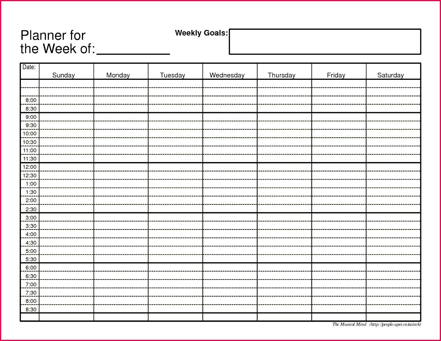 scheduler daily planner