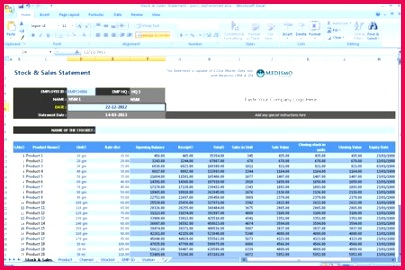 pharma stock and sales statement format