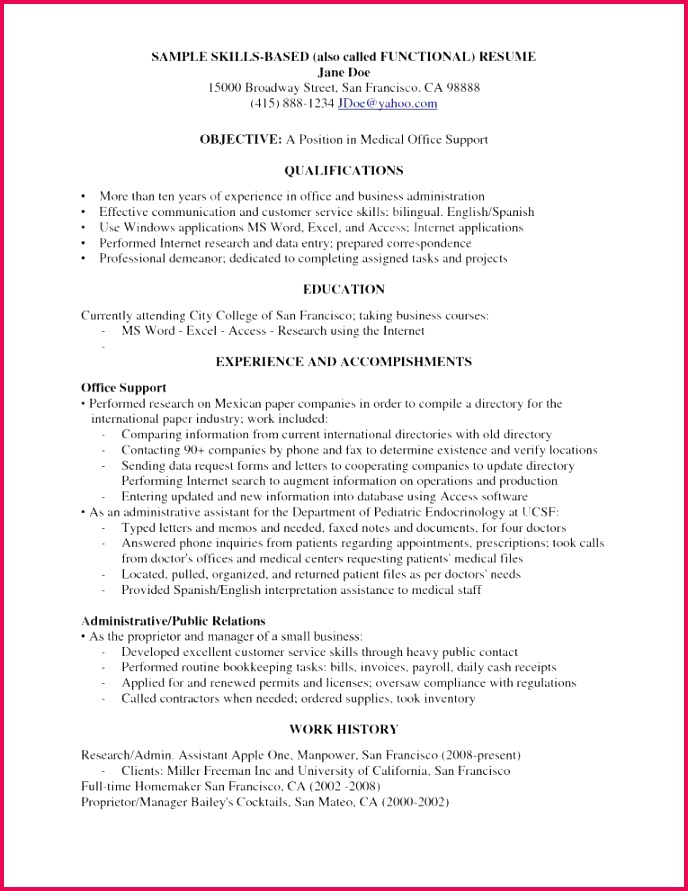 Awesome Examples Resumes Ecologist Resume 0d Skills Examples for