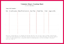 Daily Activity Log Template Excel Volunteer Hours Log Sheet Template forms Pinterest