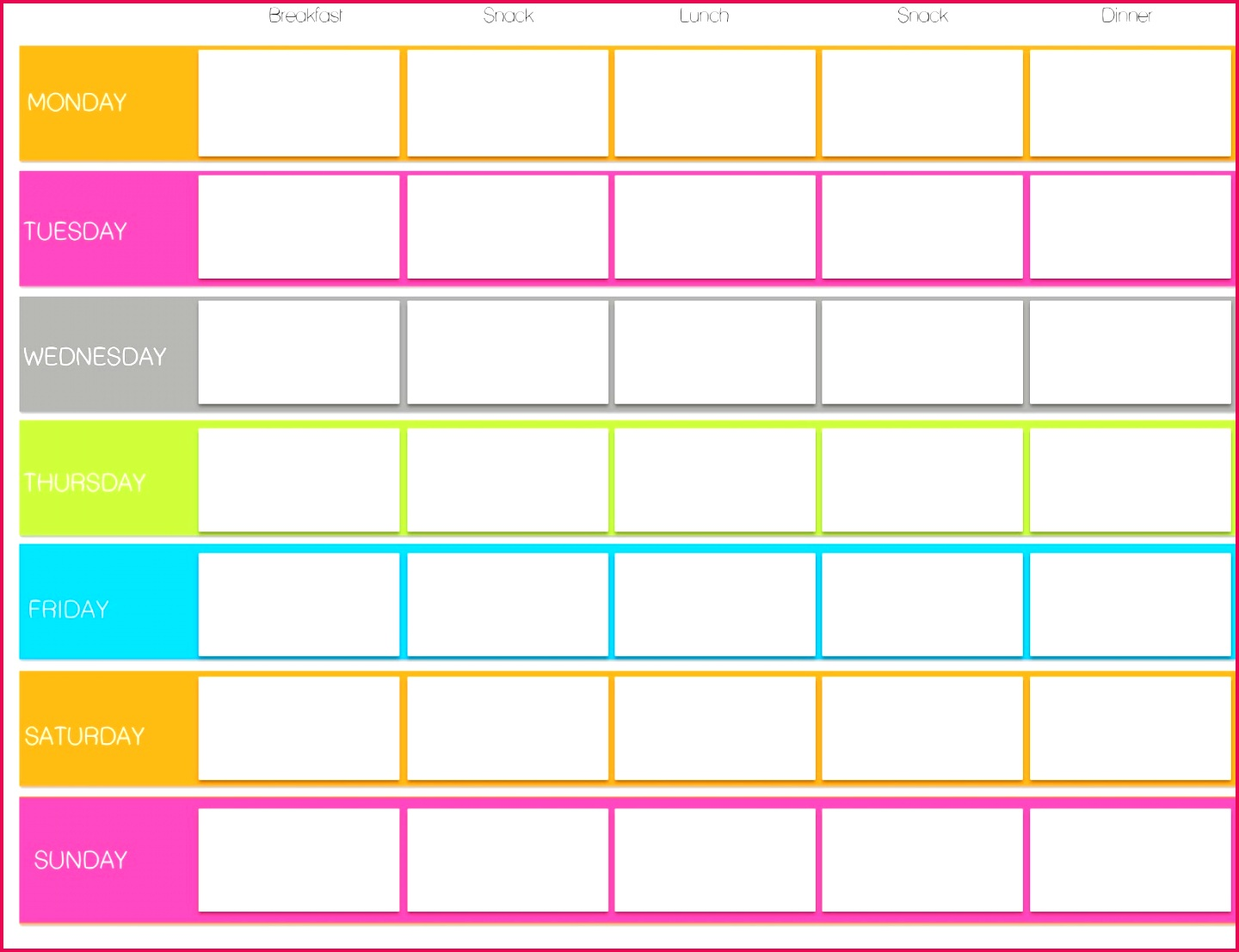 Diabetes Log Sheet Monthly Unique Weekly Exercise Plan Template
