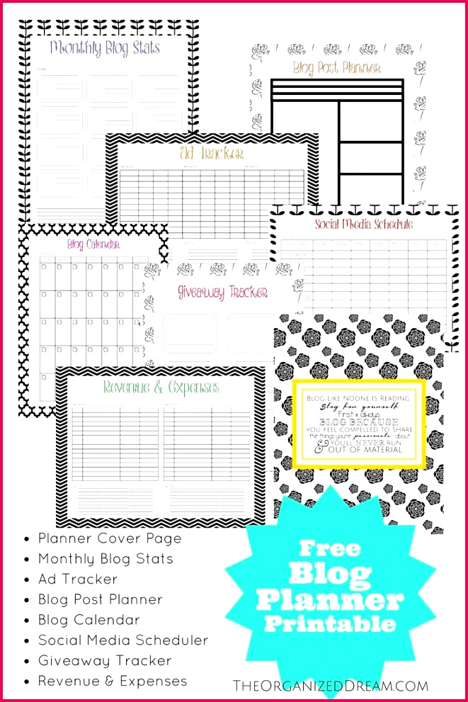 The Organized Dream FREE 2016 Calendar Planner & Organizer 35 Pages