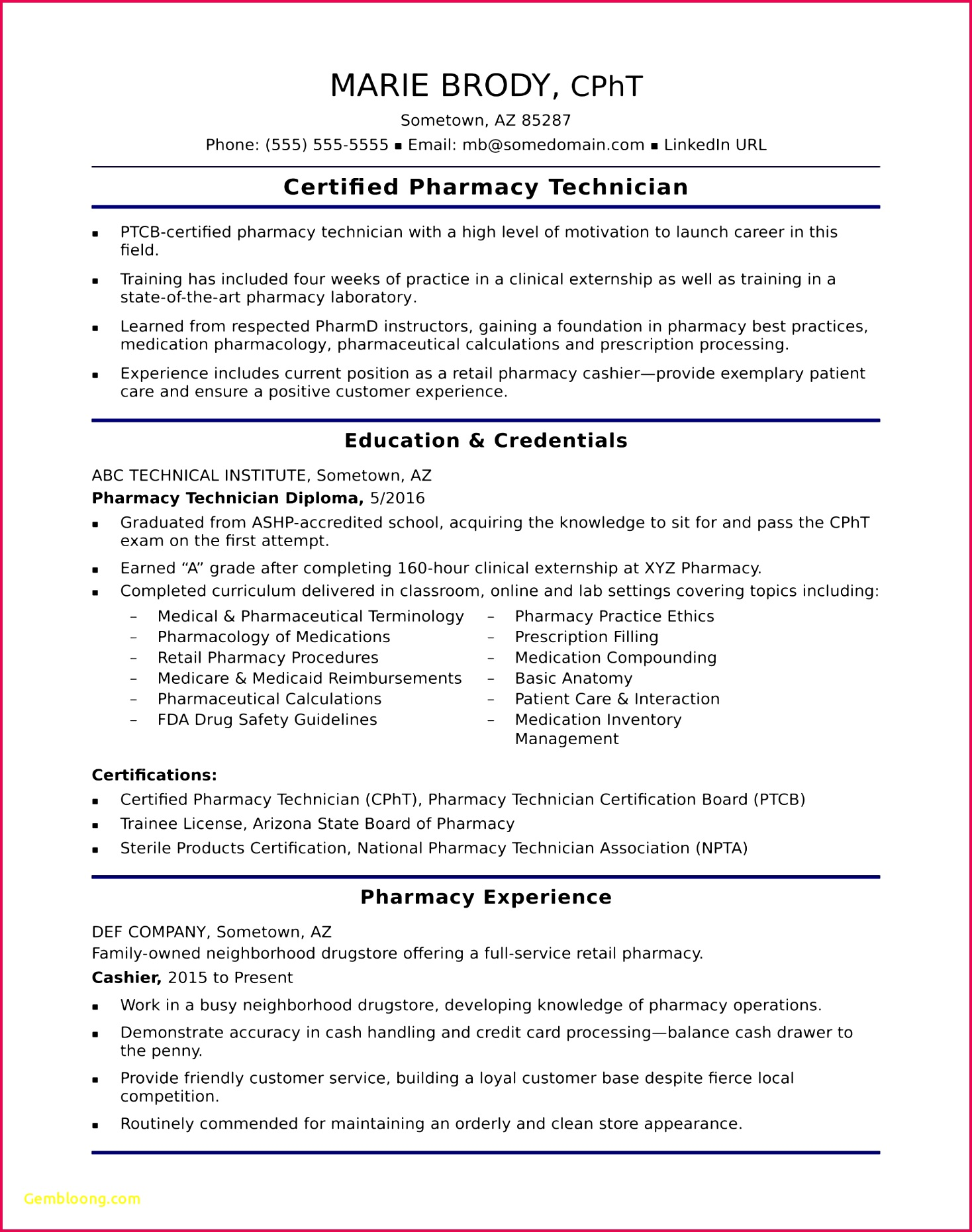 Pharmacy Tech Resume Lovely Pharmacy Tech Resume Template Fresh Obama Resume 0d