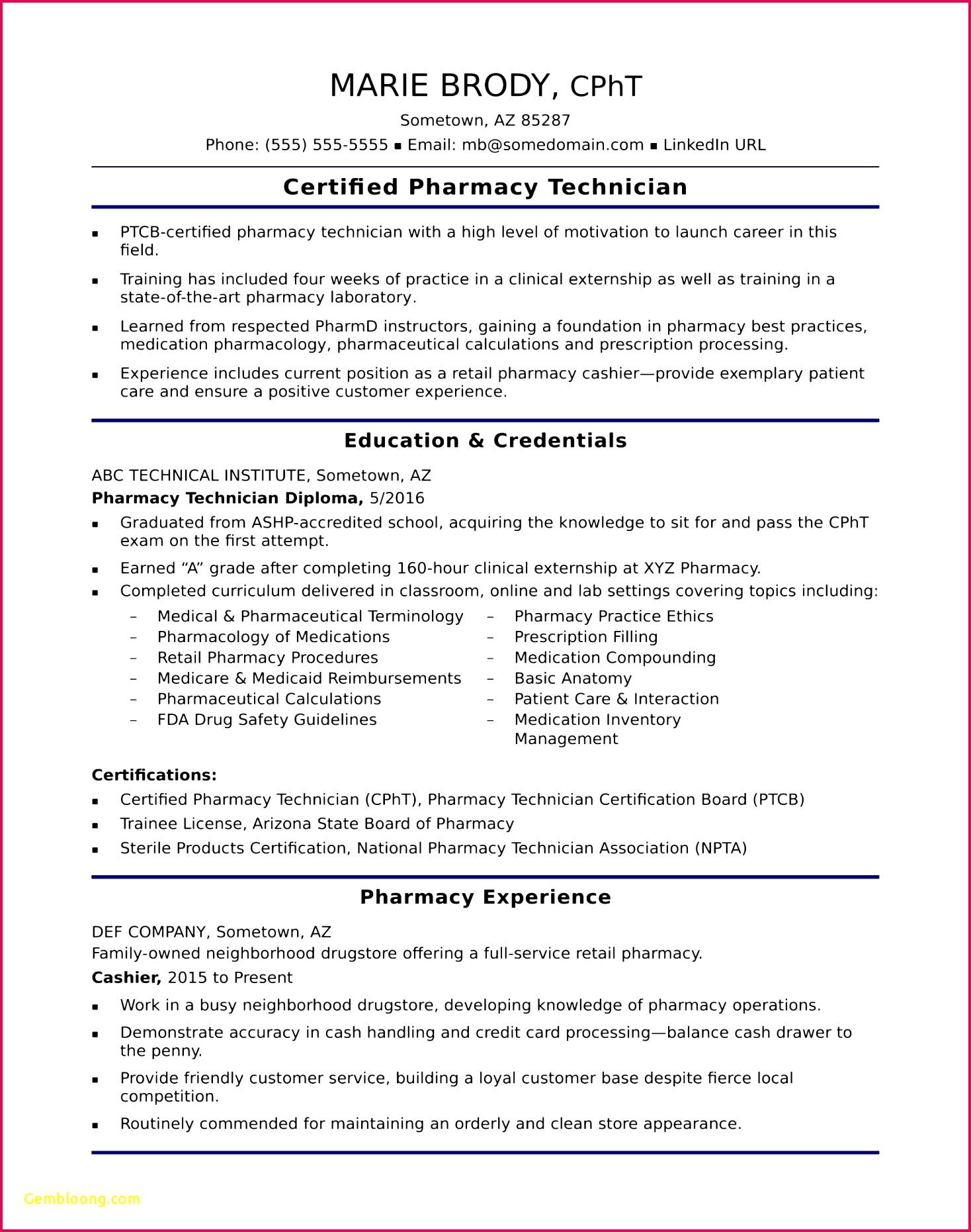 Pharmacy Tech Resume Lovely Pharmacy Tech Resume Template Fresh Obama Resume 0d