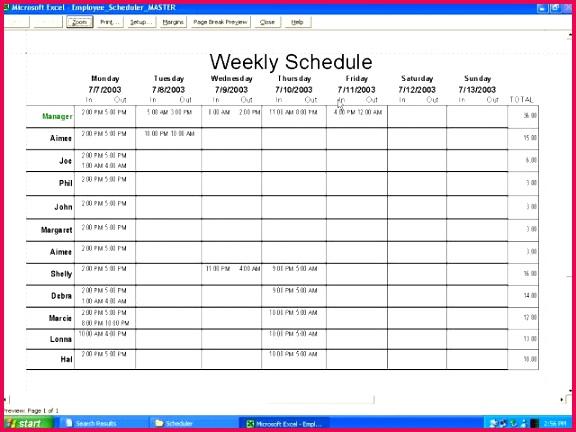 Excel Employee Schedule Template Beautiful Excel Employee Schedule Template Work Weekly Shift Templatelate