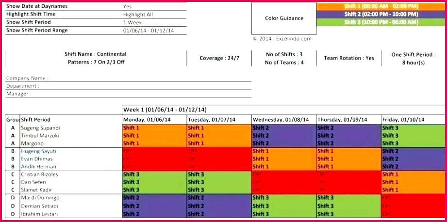 s full medium 7 shift patterns 3 teams excel work schedule template and free employee 24