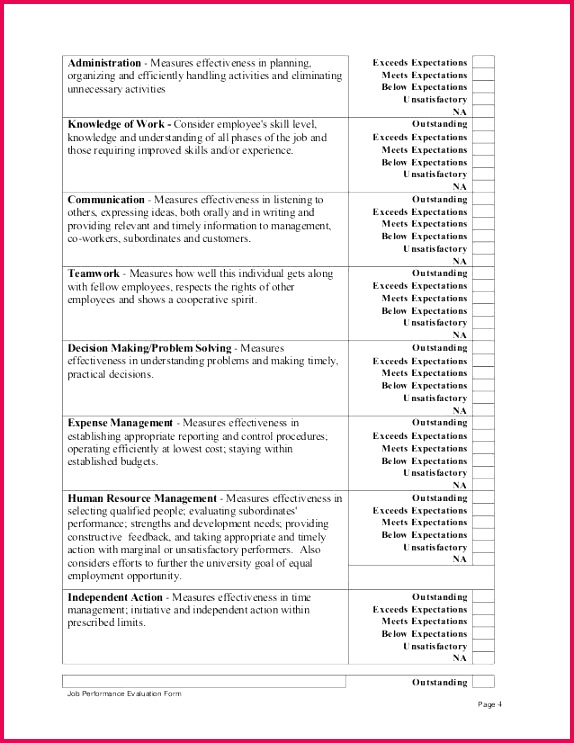 Free Elegant Annual Review Template Od Consultant Performance Appraisal Format