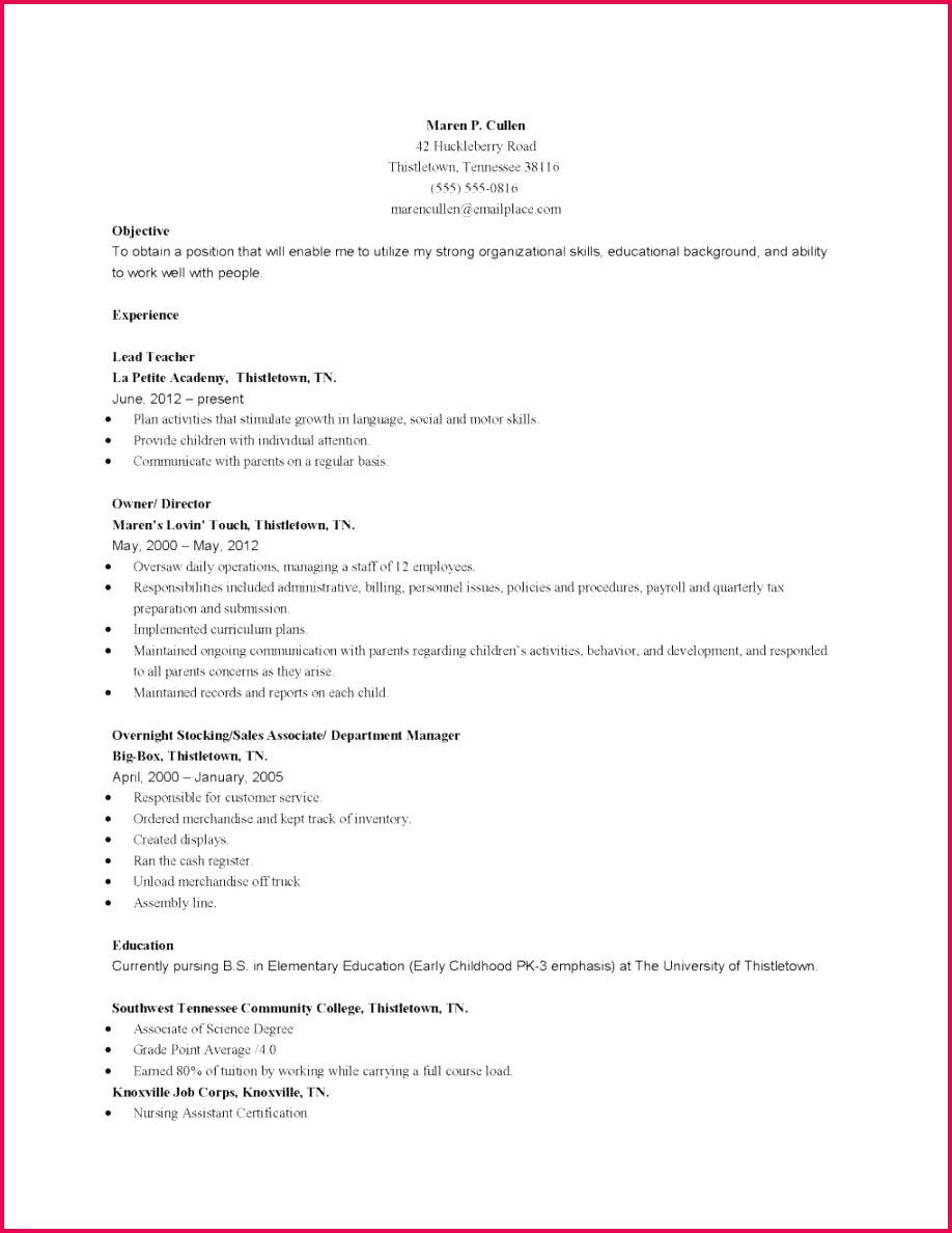Resume Example for Teachers Technology Sales Cover Letter 21 Od Specialist Cover Letter 7