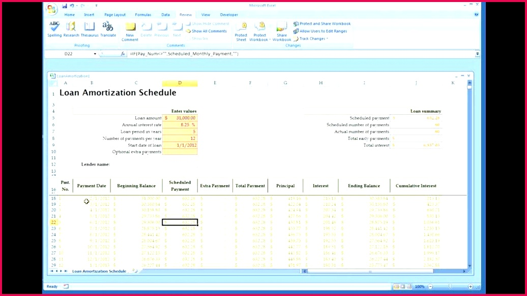 amortization schedule book loan payment template invoice samples calculator free coupon