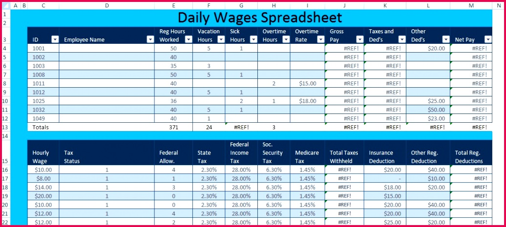 Microsoft Excel Payroll Template Awesome Download Daily Wages Spreadsheet Template Excel – Excel Spreadsheet Microsoft