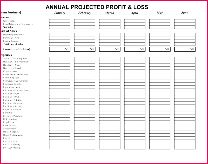 Profit and Loss Template Excel Lovely Document Template Templates Benefit Od Plishments Full Elegant Ac