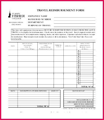 Reimbursement Form Template 10 Free Excel PDF Documents Download