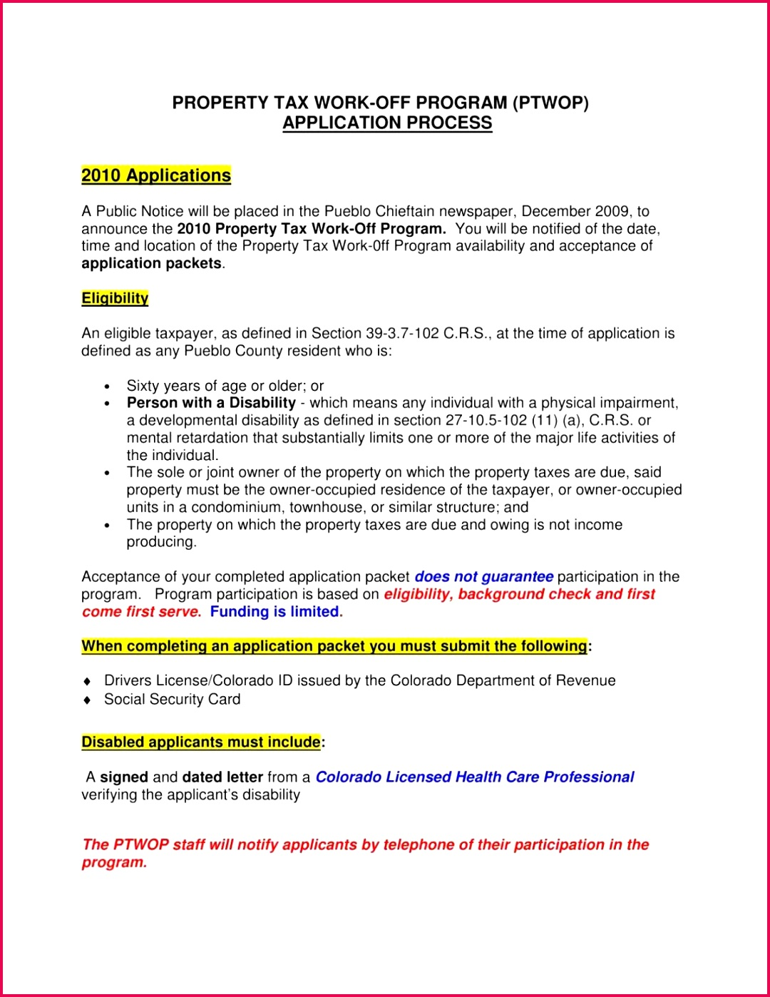 Download PDF Property Tax Work f Application Process