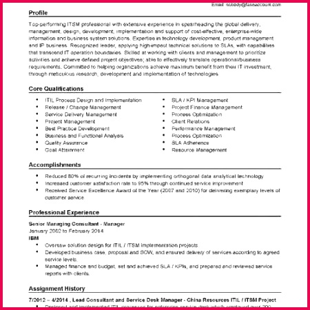 Proposal Writing Example New Ac plishment Based Resume Template Harmonious Resume Examples 0d