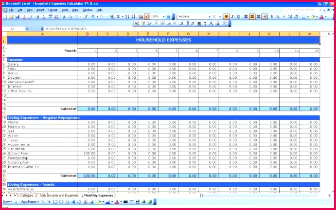 free small business expenses spreadsheet template