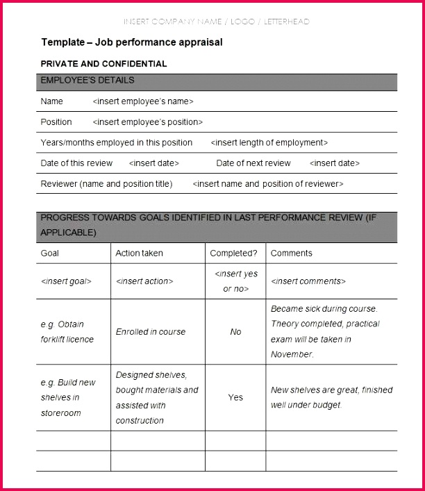 Free Employee Performance Evaluation form Simple Hr Performance Review Template Read Od