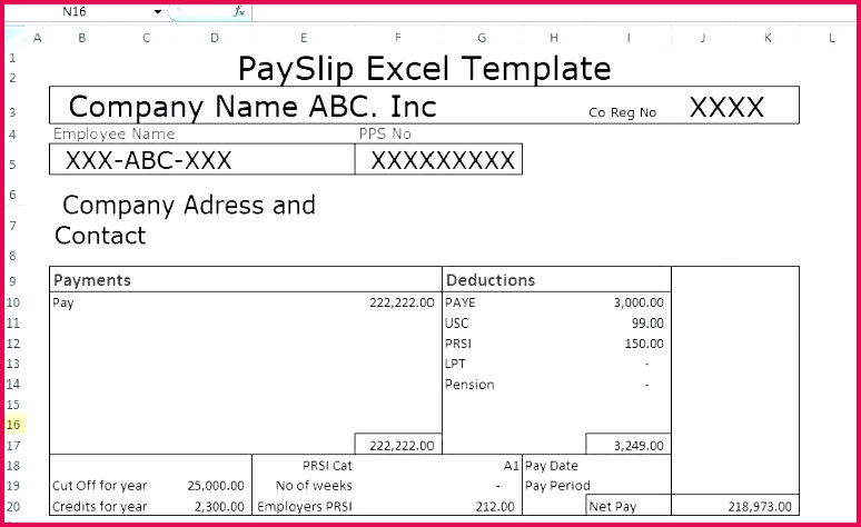 Payslip Template Free Download Malaysia Hallmarks A Full size