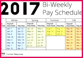Excel Calendar 2017 Template Reference 2017 Biweekly Payroll Calendar Template Excel Najafmc