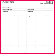 6 Free Timesheet Templates For Tracking Employee Hours Templates Printable Free Resume Template Free