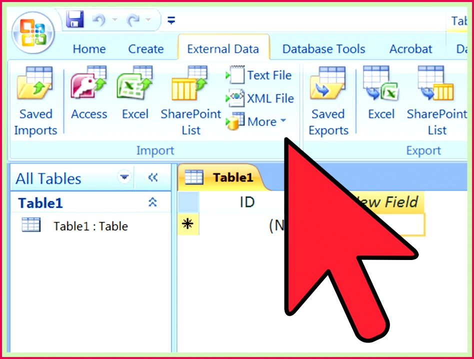 Import Excel Into Access Step 8