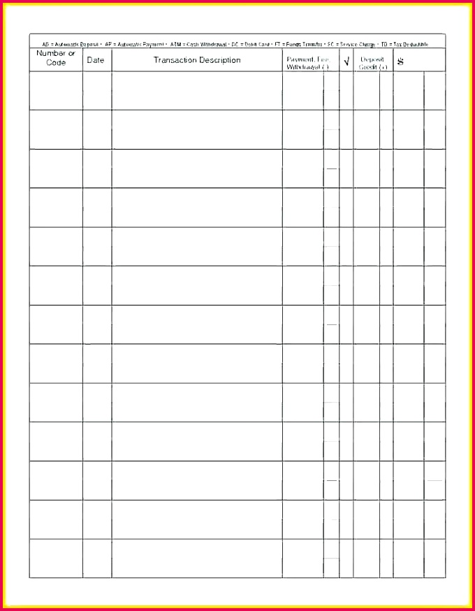 blank ledger template check book printable checks free register for forms