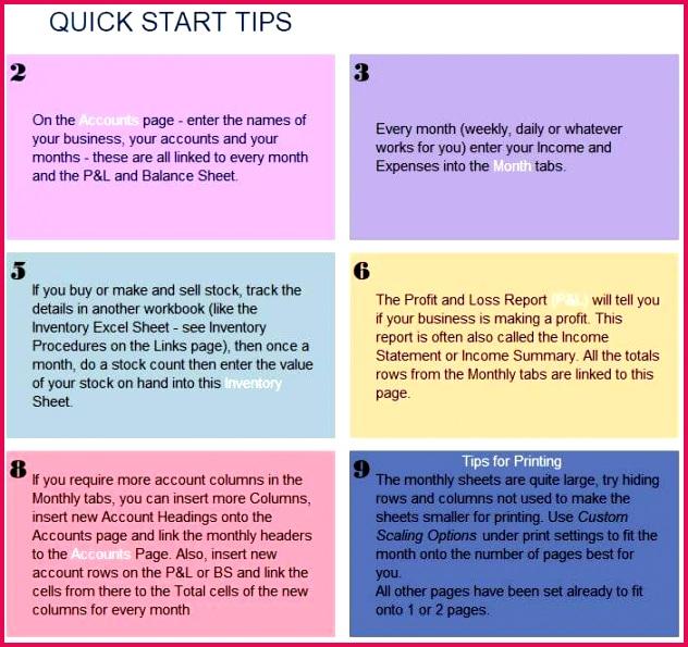 Excel Cashbook Screen Grab QuickStart