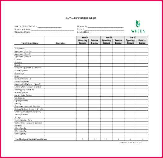 capital expenditure bud template2 wheda Free Download