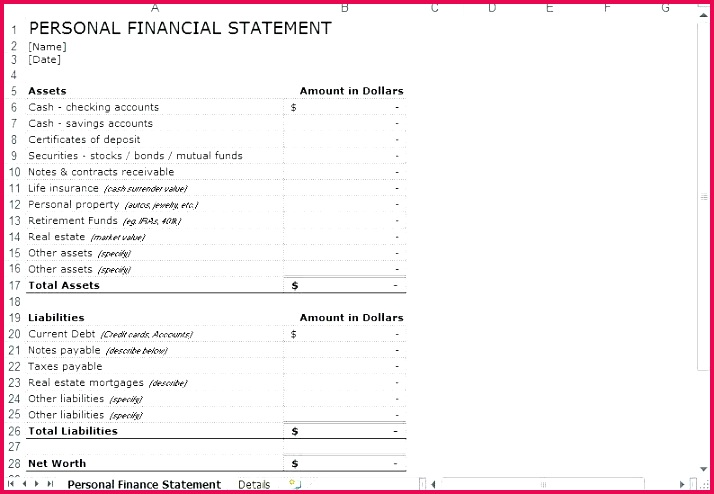 6 business financial statement template excel free annual report finance templates