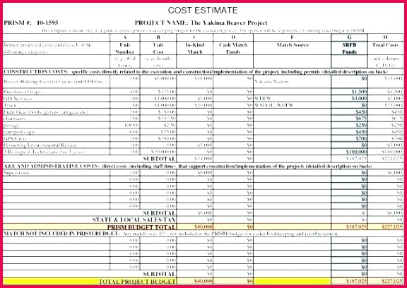 building construction estimate spreadsheet excel elegant job cost sheet template free of project costing simple