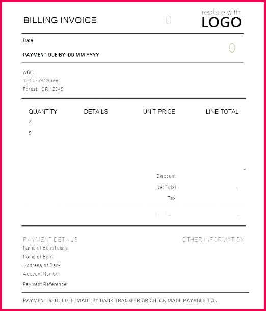 payment invoice sample simple labour
