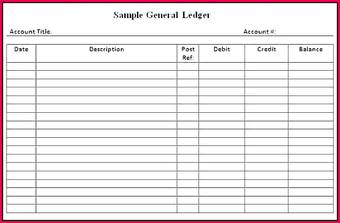 accounts book template accounting ledger account simple excel