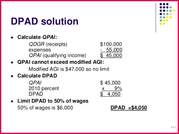 8 12 13 DPAD solution  Calculate