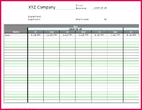 Weekly Multiple Employee Timesheet with overtime calculation 3 work periods Printable Time Sheets free to and print