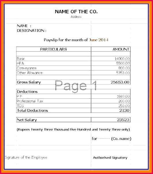 Payslip Template Download Free Payslip Template Download Shrewd Investm on Payslip Format In Excel Free Download