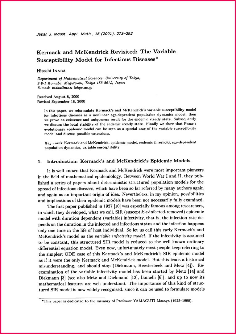 PDF Revisiting Kermack and McKendrick Mathematical Models in Functional Equations
