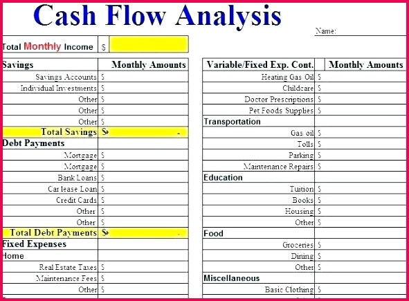 Cash Flow Excel Template Personal Discounted Spreadsheet For Small Business Project Analysis Sheet Statement Xls Free Download F