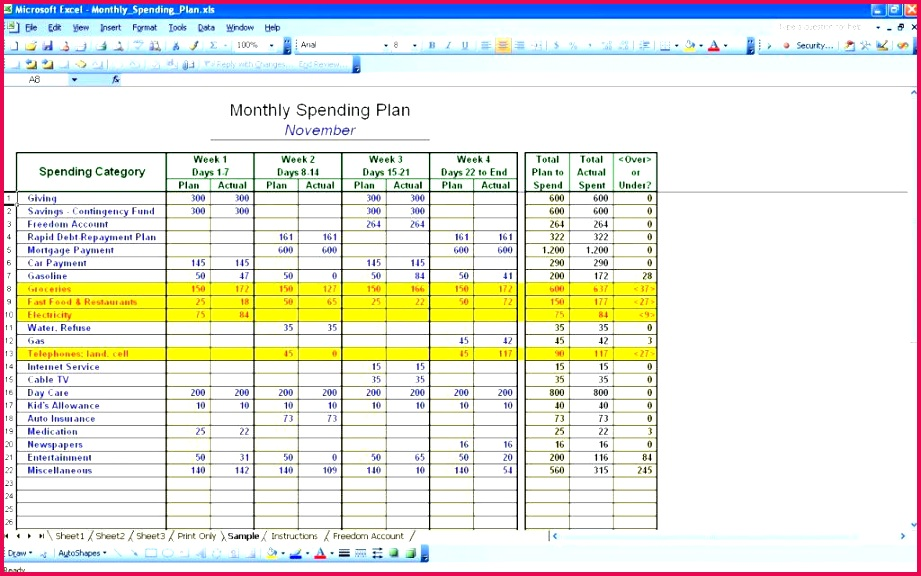 personal finance bud excel template 4 free uk