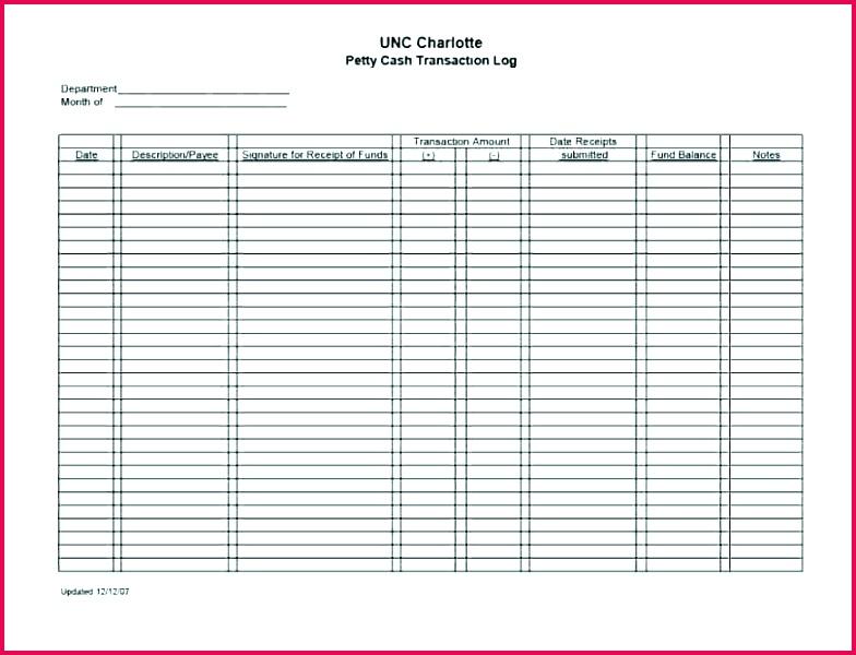 4 petty cash journal template 86974