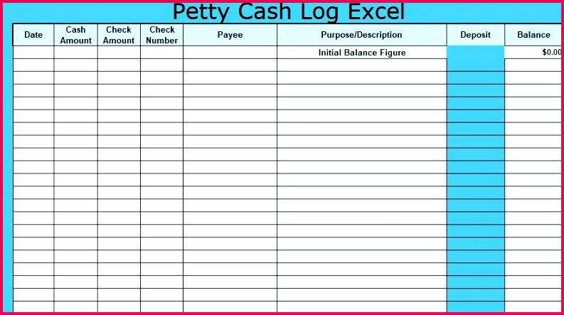 Petty Cash Log Excel Template Book Free Download Definition Microsoft Word