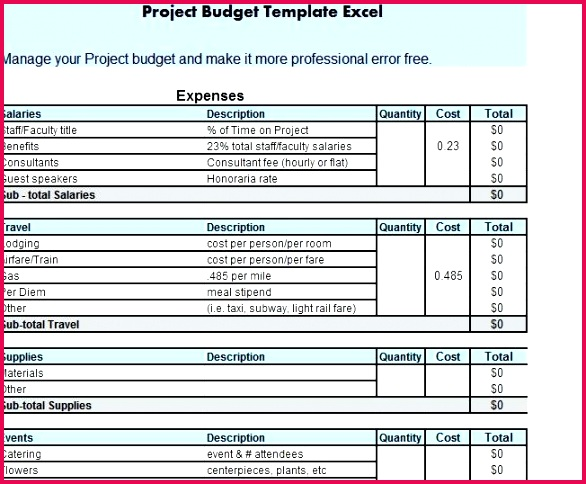 project finance template excel bud free expenses